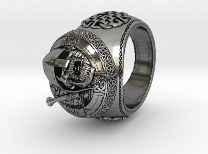 Celtic Grave Signet Ring 3d printed