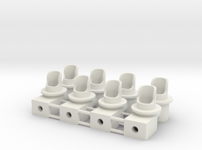 Double Dwarf 3mm Signal Housing 3d printed