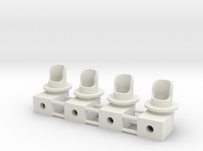 Single Dwarf 3mm 3d printed 3 signals as printed