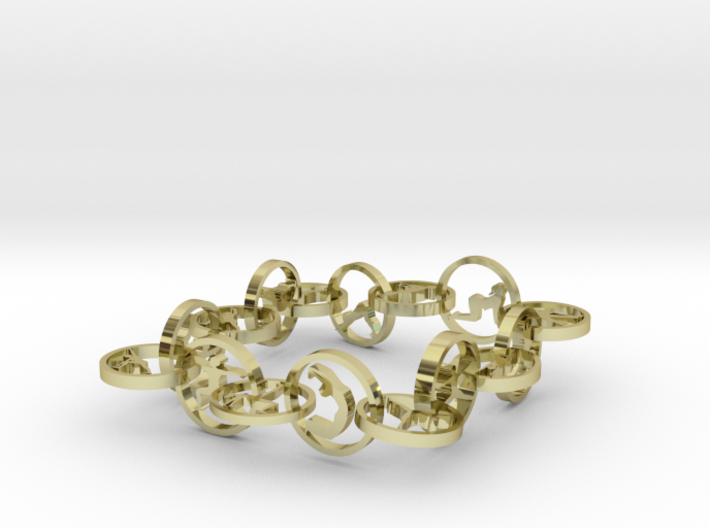 bracelet with 16 yoga poses (6) 3d printed