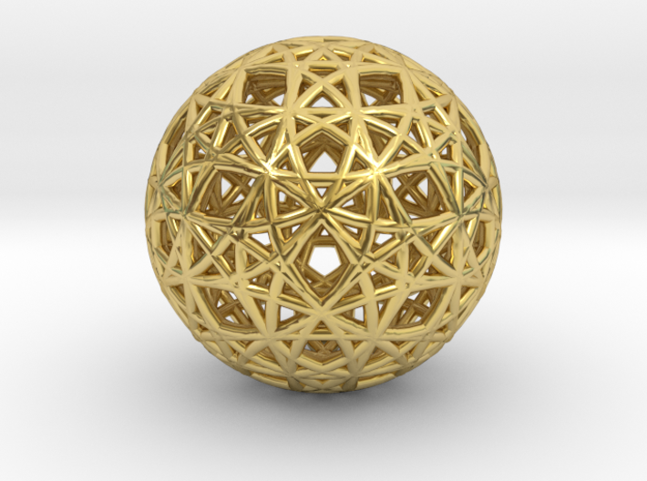 Omega Matter Seed of Life Cube 3d printed