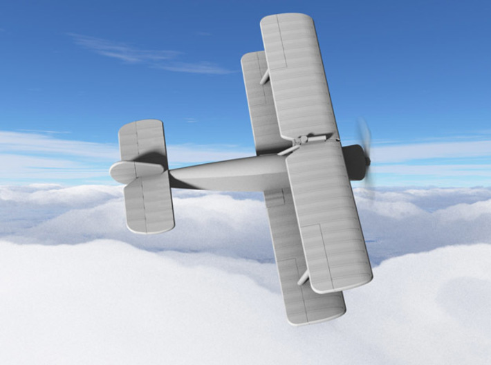 Sopwith 1B.1 3d printed Computer render of 1:144 Sopwith Strutter