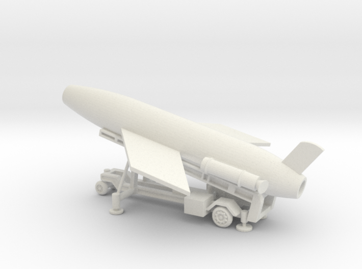 1/128 Scale MK4 Regulus Missile Launcher with Miss 3d printed