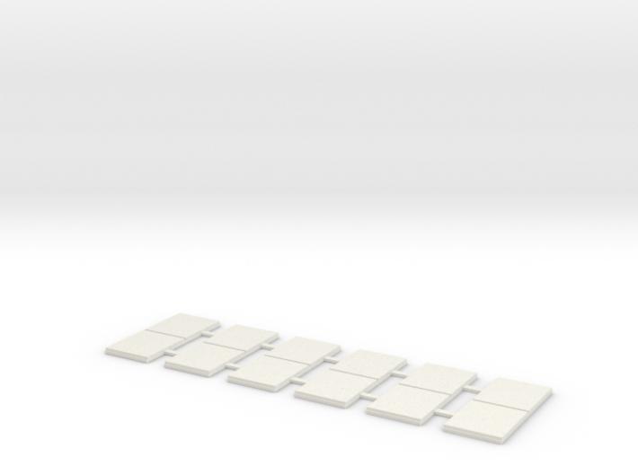 Sidewalk-2 Segments (8 ea.) 3d printed Part # SW-002