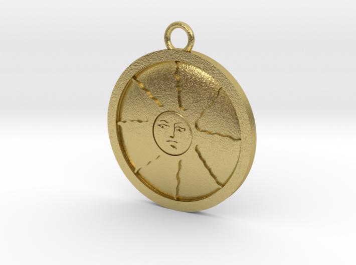Sunlight Medal 3d printed