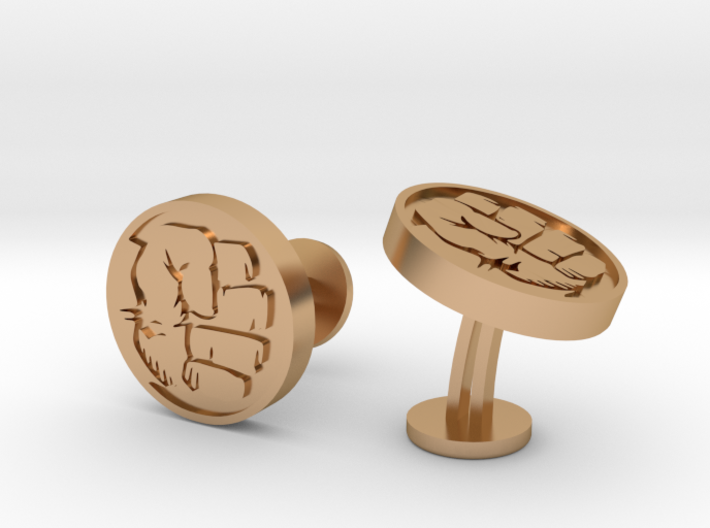 Hulk Fist Cufflinks 3d printed