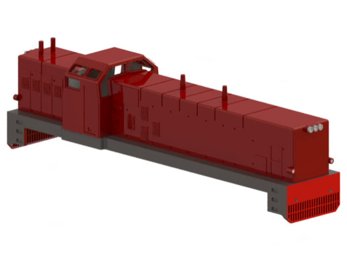 Swedish SJ diesel locomotive type T41- H0-scale 3d printed CAD-model