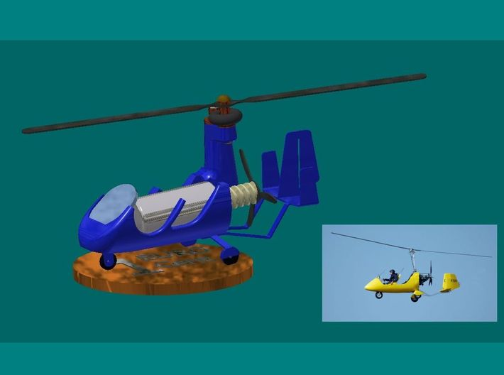 10x_Gyrokopter 3d printed