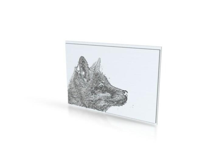 Fenphotos fox portrait 3d printed