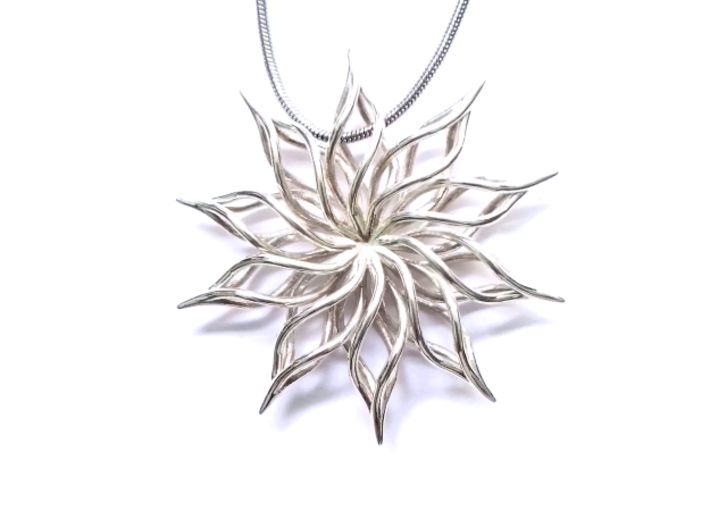 Sunflower Pendant 3d printed