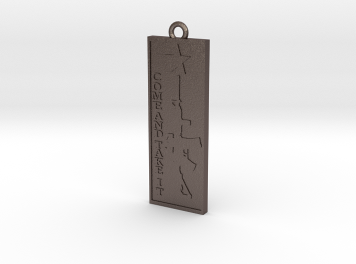 Come and take it Pendant 3d printed