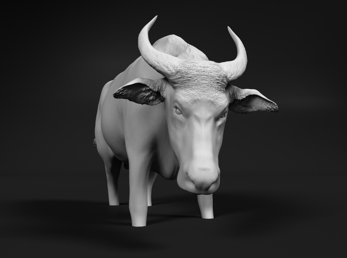 Domestic Asian Water Buffalo 1:60 Stands in Water 3d printed