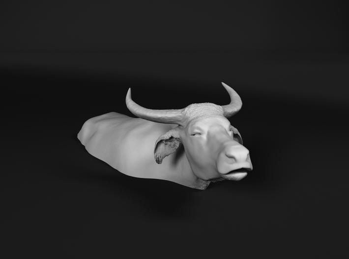 Domestic Asian Water Buffalo 1:60 Lying in Water 1 3d printed