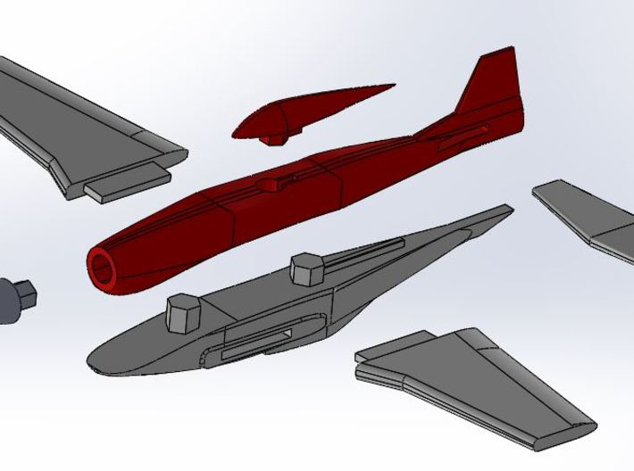 P-51 wing (clipped) 3d printed
