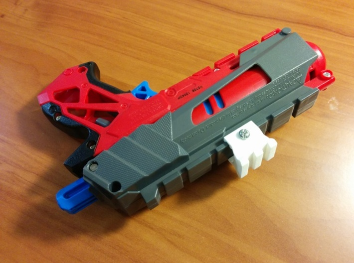 Nerf Rail to Picatinny Rail Adapter (2 Slots) 3d printed
