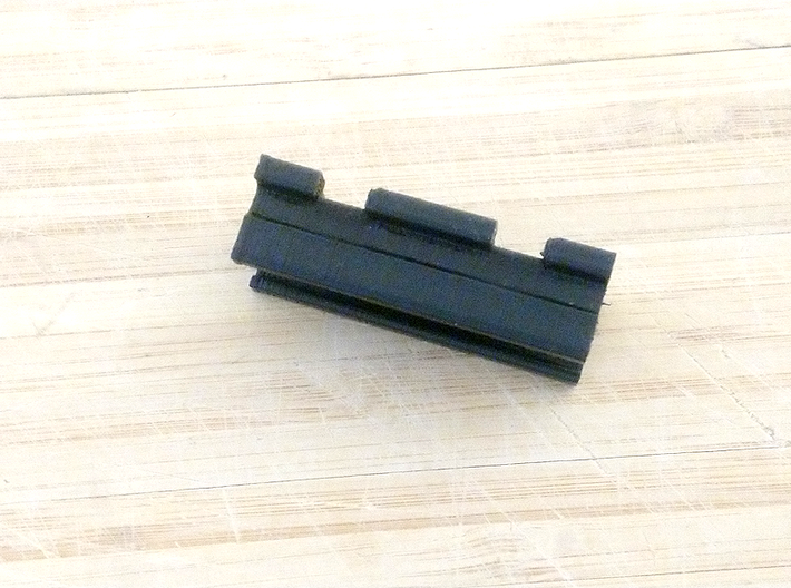 MicroShots Rail to Nerf Rail Adapter (2 Slots) 3d printed