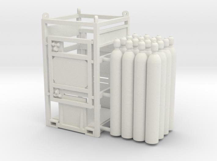 Offshore cylinder transport rack - 1:50 3d printed