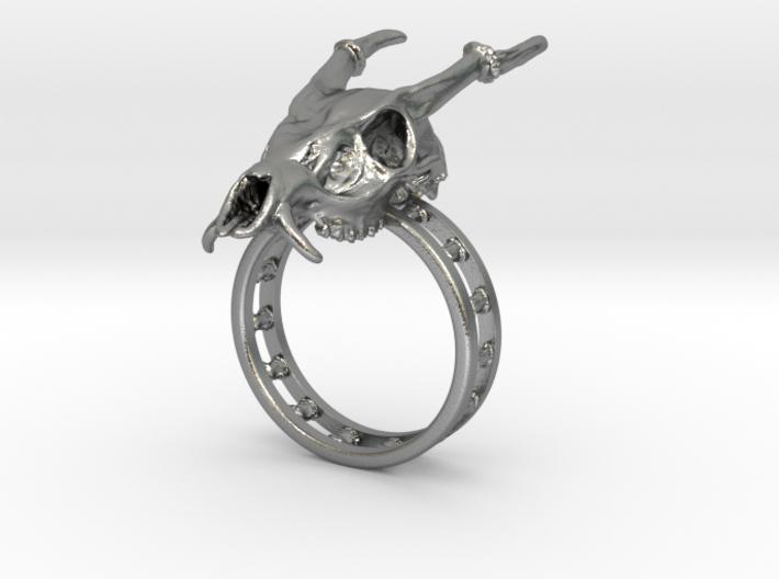Muntjac Ring (Size 10.5) 3d printed