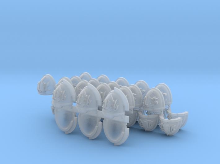 Commission 81 11-14 Mk7/8 Shoulder pads 3d printed