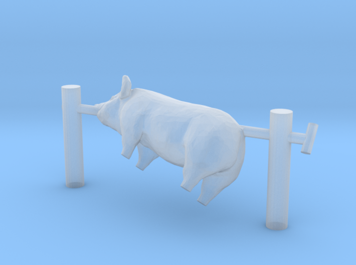 TT Scale Pig on a Spit 3d printed This is a render not a picture