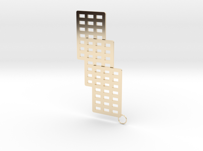 3 Cube Earring 3d printed