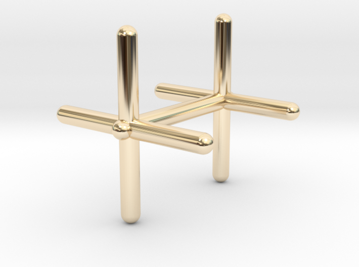 Cross Cufflink 3d printed
