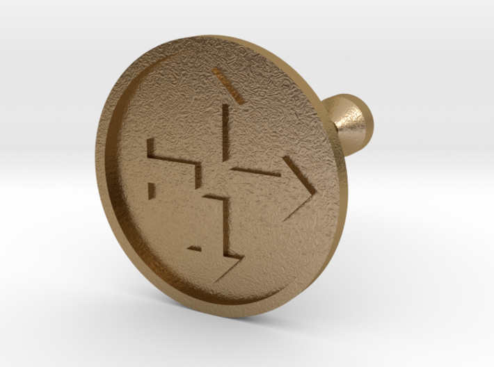 Arrowed Cufflink 3d printed