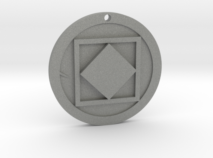 Square Necklace 3d printed