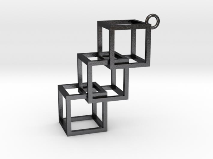 Cube Earring 3d printed