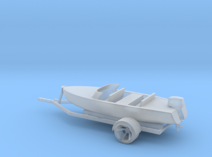Printle Thing Boat and Trailer - 1/48 3d printed