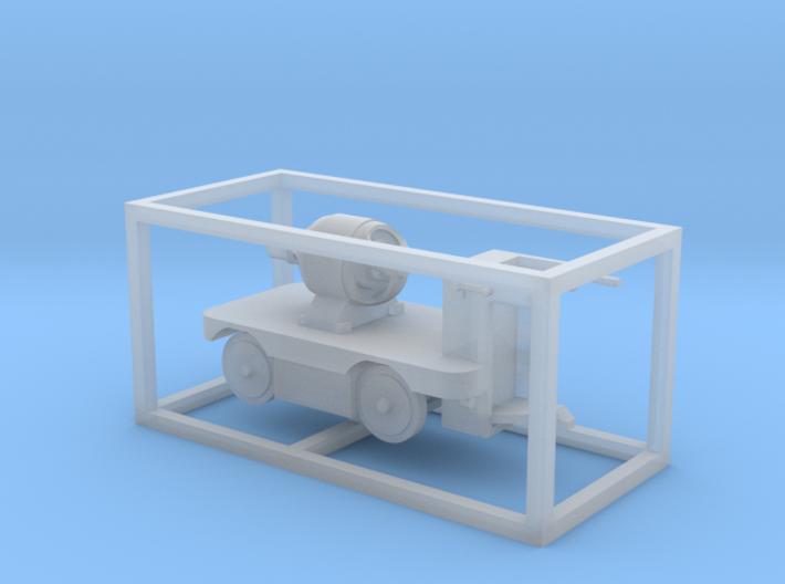 E-Karren Flachwagen E-Motor - 1:120 TT 3d printed