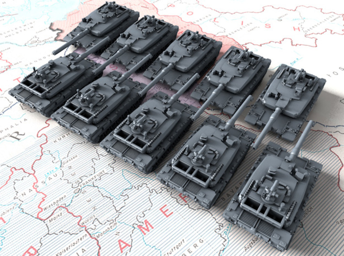 1/700 Turkish Altay Main Battle Tanks x10 3d printed 1/700 Turkish Altay Main Battle Tanks x10
