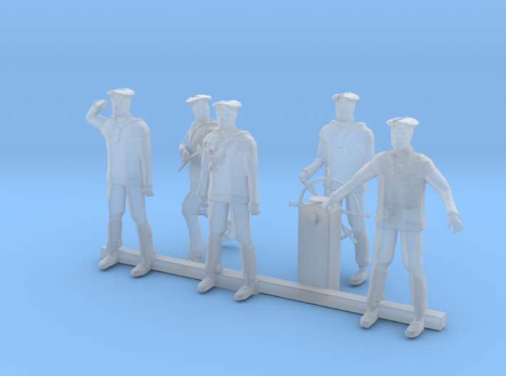 HO Scale Sailors 3d printed This is a render not a picture