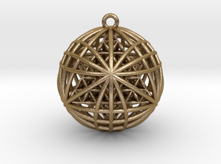 "Tantric Star of Awesomeness Pendant 2"" 3d printed"