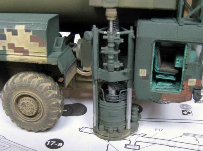 1:72 correct gyroscope for the SS-25 Topol launche 3d printed Gyro detailed with wire, painted and installed