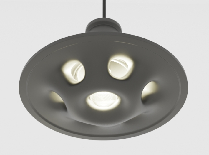 UFO Pendant Light Type B 3d printed Black Natural Versatile Plastic