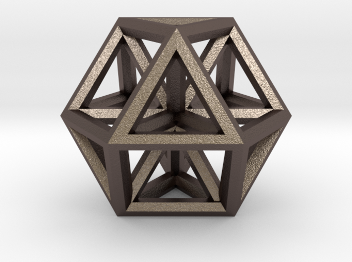 """Large Vector Equilibrium 1.5"""" 3d printed"""