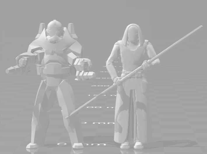 Star wars Jedi Temple Guard 1/60 miniature 4 games 3d printed