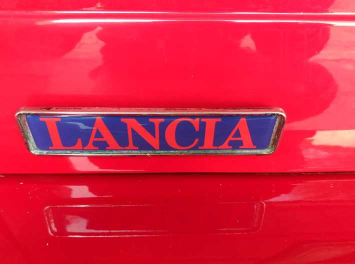 Lancia Delta 1 badge Logo type plate repair stud 3d printed Picture from a customer