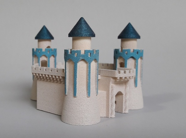 The Keep of 3 Towers 3d printed