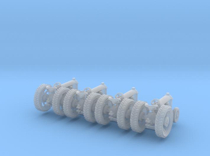 4 farm tractors rev. Z scale 3d printed 4 farm tractor Z scale