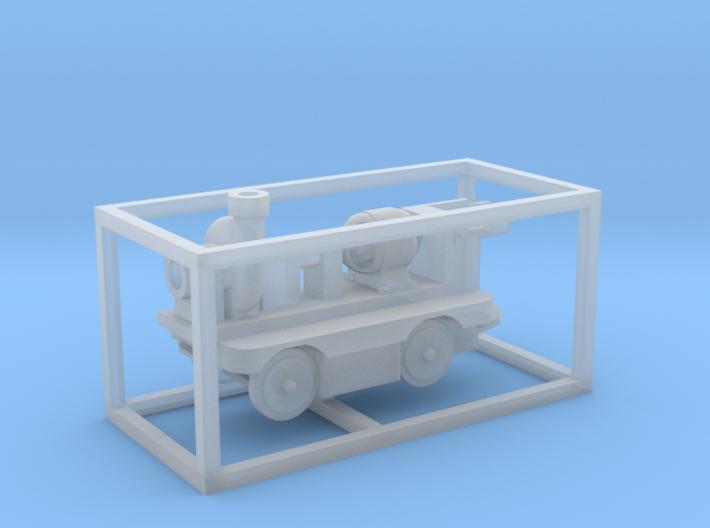 E-Karren Flachwagen Pumpe (ALT) - 1:120 TT 3d printed