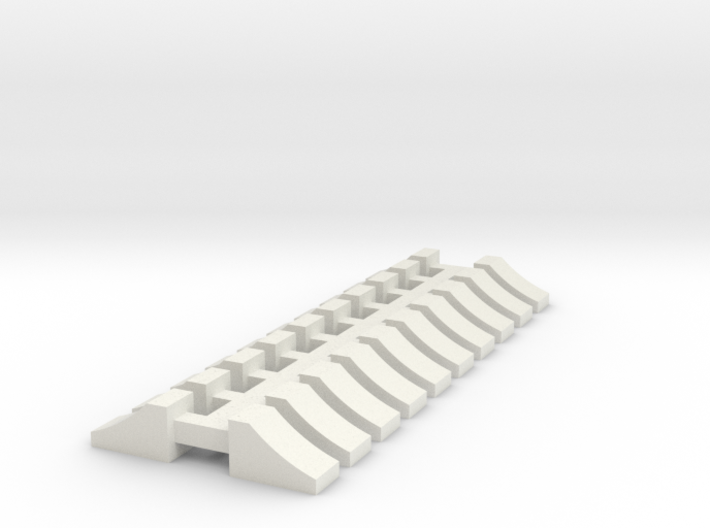 Wheel Chock - 10 sets 1-50 Scale 3d printed