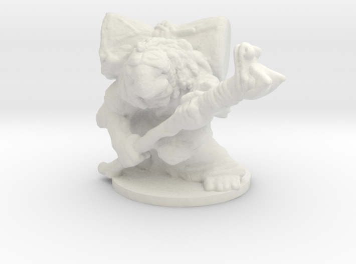 Troll Shaman 1/60 miniature for games and rpg 3d printed