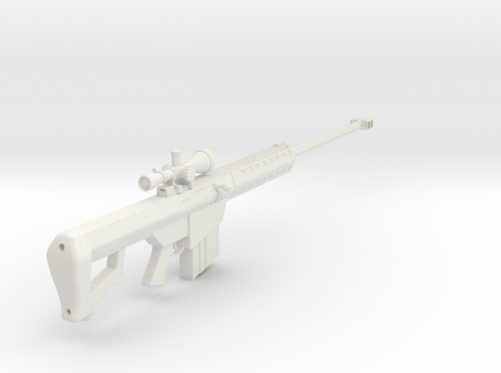1:6 Miniature Barrett M82A1 Sniper Rifle 3d printed