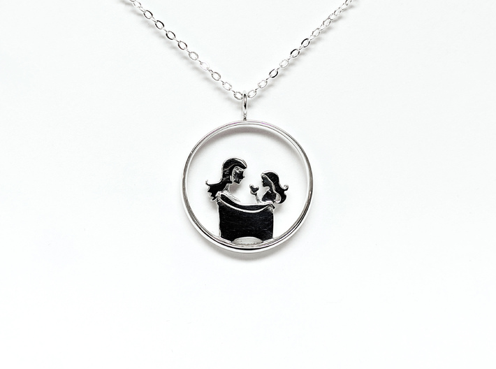Mother & Daughter Pendant 3 -Motherhood Collection 3d printed
