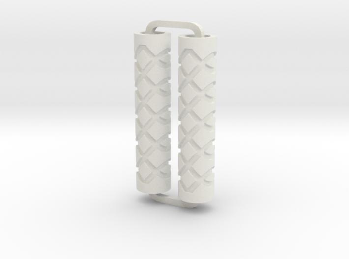 Slimline Pro loops 02 engraved lathe 3d printed