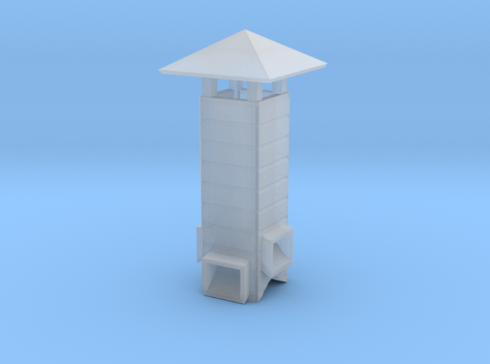 HO Vent Stack for Great Northern Privy 3d printed