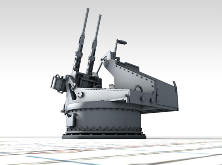 1/96 Twin 20mm Oerlikon MKV Mount Not in Use 3d printed 3d render showing product detail