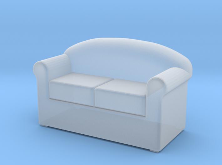 HO Scale 2 seat sofa 3d printed